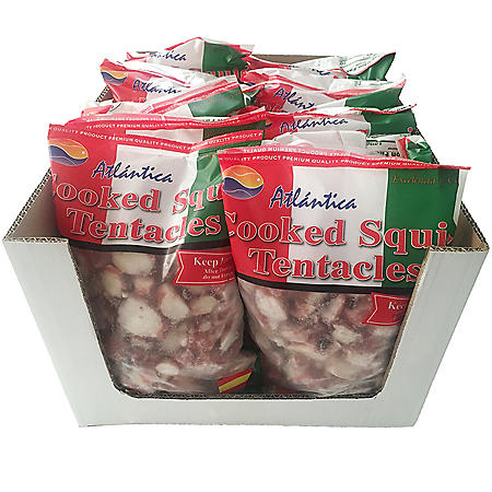 Atlantica Cooked Squid Tentacles Case (12 lbs.)