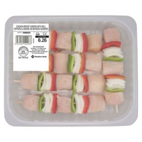 Member's Mark Chicken Breast Kabobs with Bell Peppers and Onions (priced per pound)