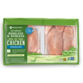 Member's Mark Fresh Boneless Skinless Chicken Breast Tenderloins, Antibiotic Free (priced per pound)