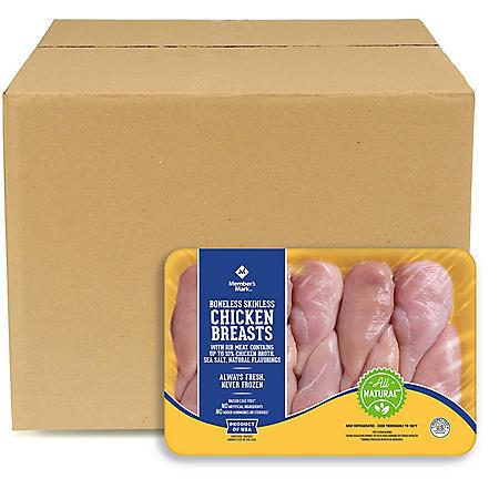 Member's Mark Boneless Skinless Chicken Breasts, Bulk Wholesale Case (priced per pound)