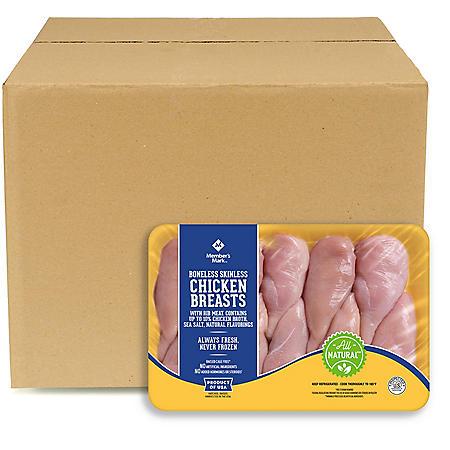 Member's Mark Boneless Skinless Chicken Breast, Bulk Wholesale Case (priced per pound)