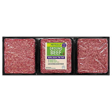 93% Lean / 7% Fat, Ground Beef (priced per pound)