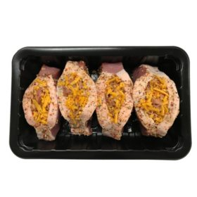 Bacon & Cheddar Cheese-Stuffed Pork Chops, Trayed (priced per pound)