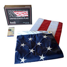 Annin - American Flag 5x8' Nylon SolarGuard with Sewn Stripes and Embroidered Stars