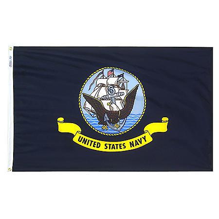 Annin - U.S. Navy Military Flag 3x5 ft. Nylon SolarGuard