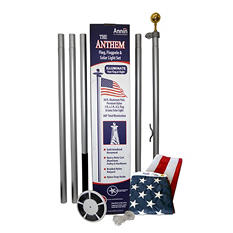 Annin - Annin Flagmakers Anthem Flagpole with Solar LED Light Set, 20 ft.