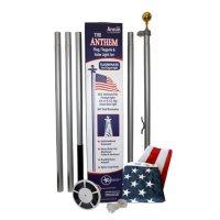 Annin - Annin Flagmakers Anthem Flagpole with Solar LED Light Set, 20 ft.