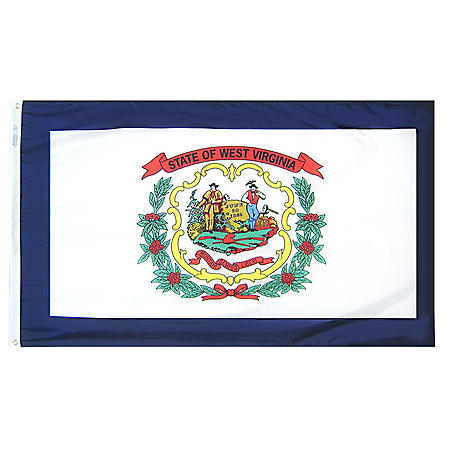 Annin - West Virginia state flag 4x6 ft. Nylon SolarGuard