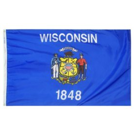 Annin - Wisconsin state flag 3x5 ft. Nylon SolarGuard