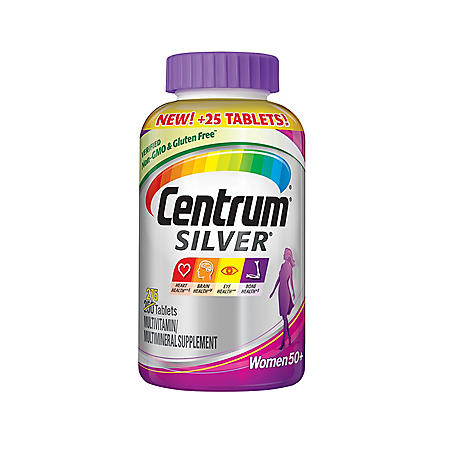 Centrum Silver Women Multivitamin Tablet, Age 50 and Older (275 ct.)