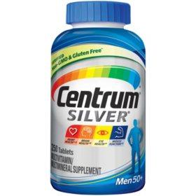 Centrum Silver Men Multivitamin/Multimineral Supplement Tablet, Vitamin D3, Age 50 and Older (250 ct.)