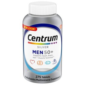 Centrum Silver Men Multivitamin Tablet, Age 50 and Older (275 ct.)