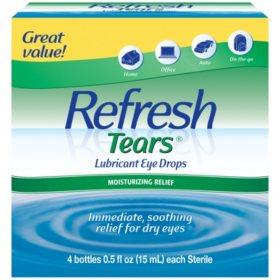 Refresh Tears Lubricant Eye Drops Multi-Pack (4 ct.)