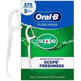 Oral-B Complete Floss Picks, Scope Outlast (375 Floss Picks)