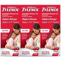Children's Tylenol Oral Suspension, Cherry (4 oz., 3 pk.)
