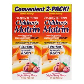 Children's Motrin Oral Suspension (4 oz., 2 pk.)