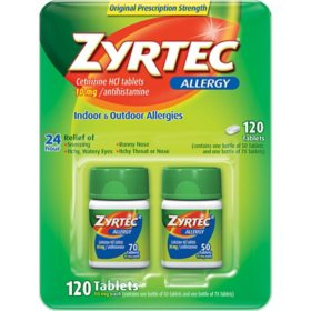 Zyrtec Tablets, 10 Mg (120 ct., 2 pk.)