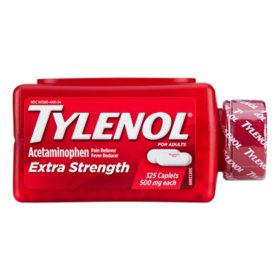 Tylenol Extra Strength Caplets, 500mg (325 ct.)