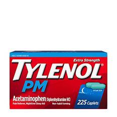 Tylenol PM Caplets, 225 ct.