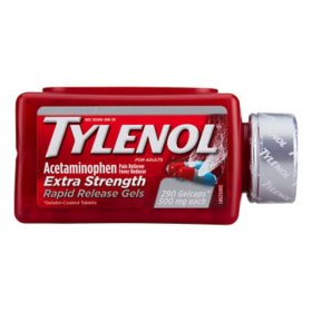 Tylenol Extra Strength Rapid Release Gels (290 ct.)