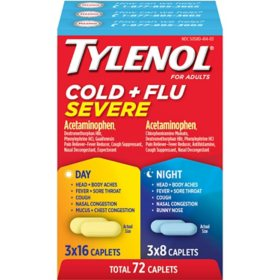 Tylenol Cold + Flu Severe Day & Night Caplets (48 ct. day, 24 ct. night)