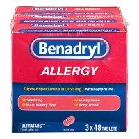 Benadryl Allergy Ultratabs Tablets (48 ct., 3 pk.)