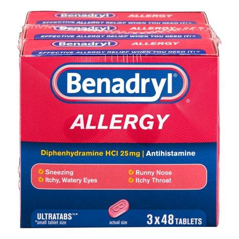 Benadryl Allergy Ultra Tabs (48 ct., 3 pk.)