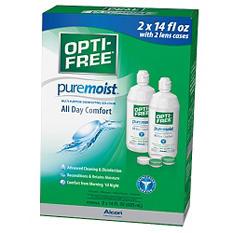 Opti-Free PureMoist with 2 Lens Cases (14 oz., 2 pk.)