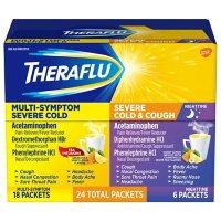 Theraflu MultiSymptom Severe Cold Relief Medicine/Nighttime Severe Cold & Cough Relief Medicine Powder (24 pk.)
