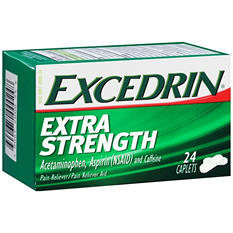 Excedrin Extra Strength Pain Reliever/Pain Reliever Aid Caplets (24 ct.)