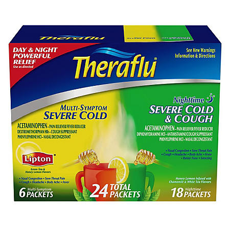 Theraflu Day & Night Severe Cold (24 Total Packets) - Sam's Club