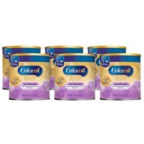 Enfamil Gentlease Infant Formula Milk-Based Powder with Iron (12.4 oz., 6 pk.)