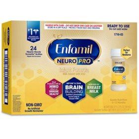 Enfamil NeuroPro Infant Formula, Ready to Use (2 fl. oz., 24 pk.)