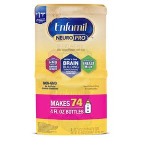 Enfamil NeuroPro Infant Formula Non-GMO Milk-Based Powder with Iron (20.7 oz., 2 pk.)