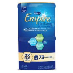 Enfamil Enspire Infant Formula Milk-based Powder with Iron (20.5 oz., 2 pk.)