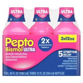 Pepto Bismol Ultra, Original Flavor(3pk, 12 fl. oz.)