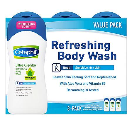 Cetaphil Ultra Gentle Refreshing Body Wash, Dermatologist Tested (16.9 fl. oz.)