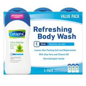 Cetaphil Ultra Gentle Refreshing Body Wash, Dermatologist Tested (16.9 fl. oz.)