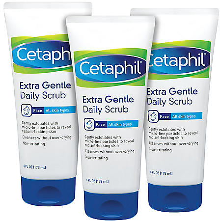 Cetaphil Extra Gentle Daily Scrub For Sensitive and All Skin Types (6 oz., 3 pk.)