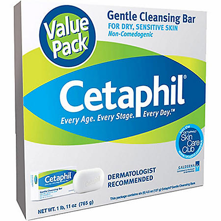 Cetaphil Gentle Cleansing Bar Value Pack (4.5 oz., 6 pk.)