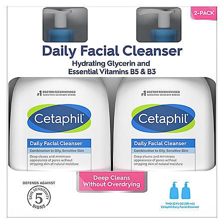 Cetaphil Daily Facial Cleanser (20 oz., 2 pk.)