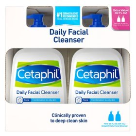 Cetaphil Gentle Daily Facial Cleanser (20 oz., 2 pk.)