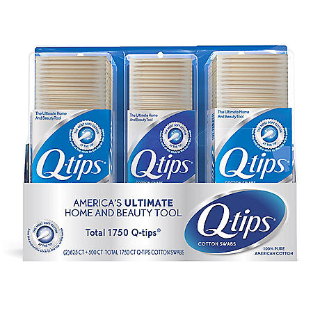 Q-tips Cotton Swabs (625 ct., 2 pk. +  500 ct., 1 pk.)