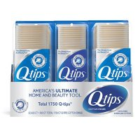 Q-tips Cotton Swabs (625 ct., 2 pk. +  500 ct., 1 pk.)