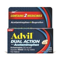 Advil Dual Action Coated Caplets with 500mg Acetaminophen and 250mg Ibuprofen (216 ct.)