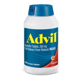 Advil Pain Reliever / Fever Reducer Coated Tablets, 200mg Ibuprofen (360 ct.)