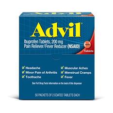 Advil Tablets Dispenser (50 - 2ct. Packets)