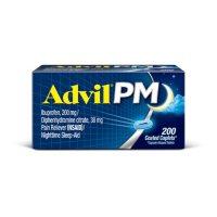 Advil PM Pain Reliever / Nighttime Sleep Aid Caplet, 200mg Ibuprofen & 38mg Diphenhydramine (200 ct.)