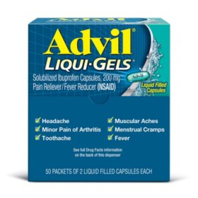 Advil Liqui-Gels 200mg (50 packets)