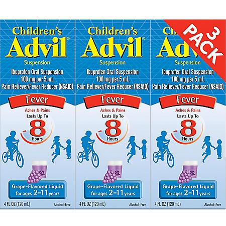 Children's Advil® Liquid - Grape - 4 fl. oz. - 3 pk.